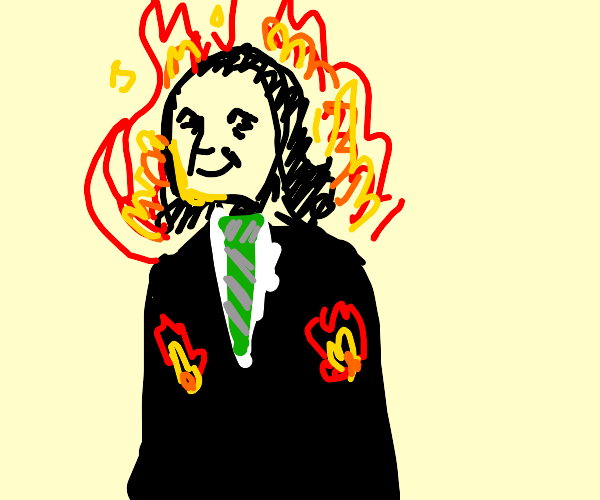 snape is happy and on fire