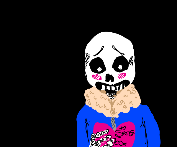 sans undertale finds a valentine