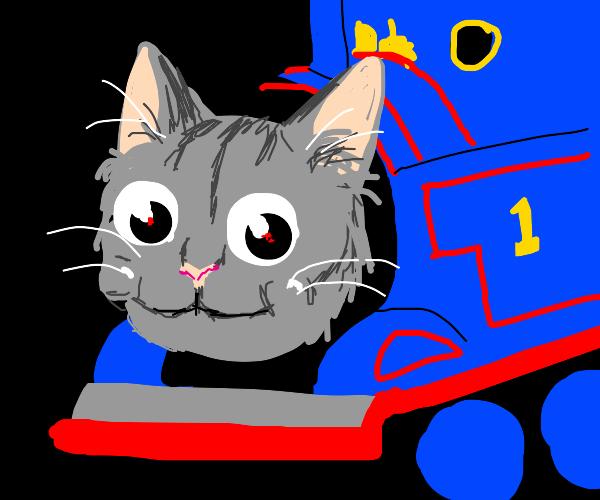 a train that's a cat