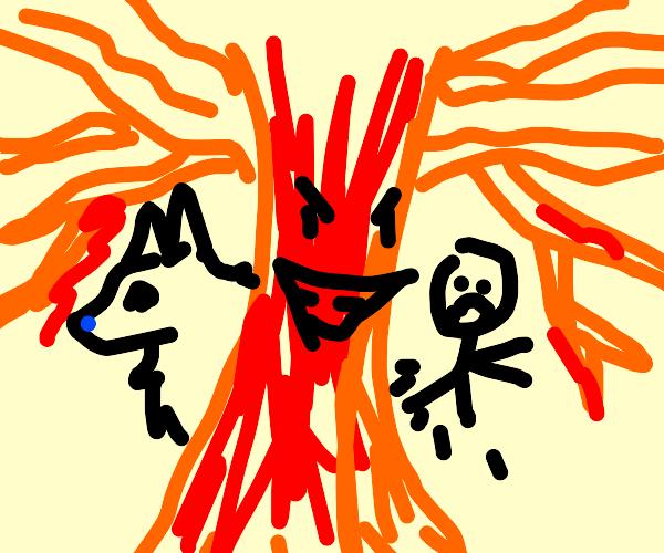 A lava tree