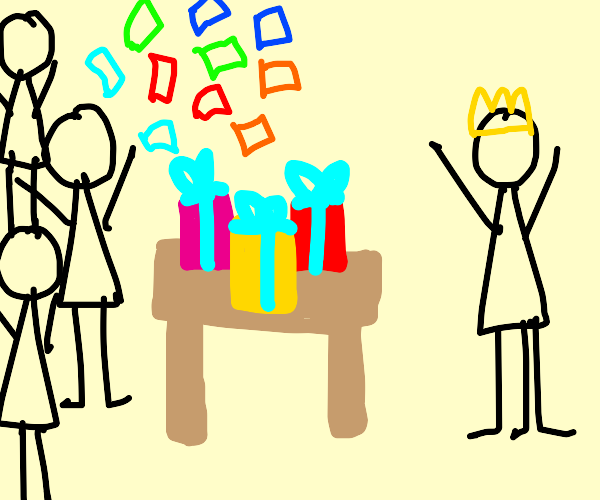 Birthday party for person with 3 legs