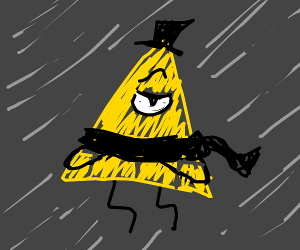Bill Cipher with a scarf