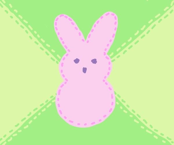 Pink bunny stitch work