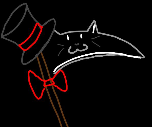 fancy cat scythe with face
