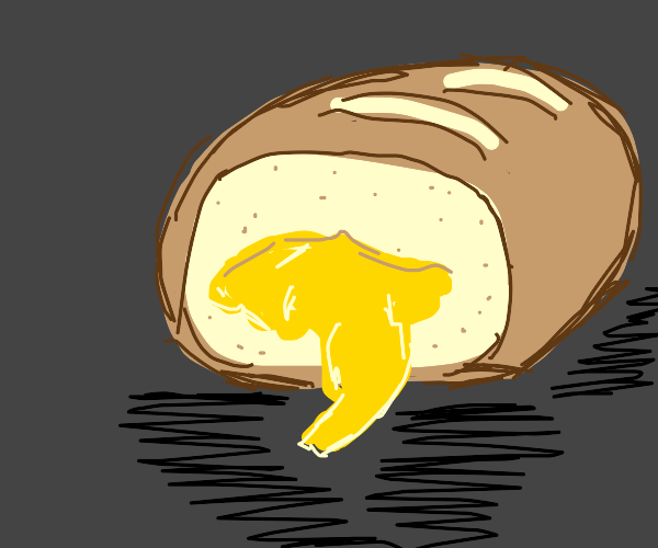 Bread with cheese filling