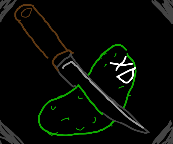 XD pickle is cut with a sharp knife