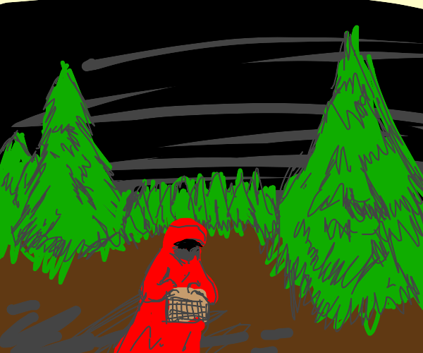 Red Riding Hood Sneaking