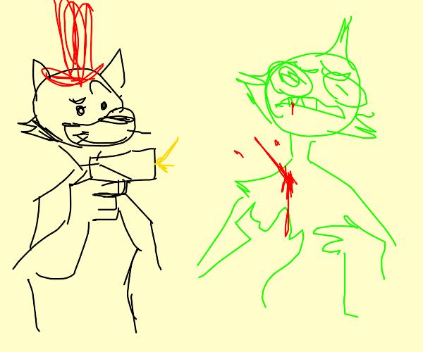 the cat in the hat shoots the grinch