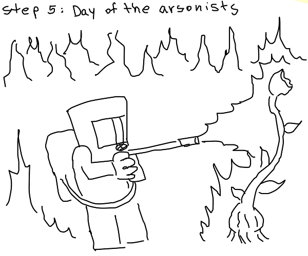 step 4: day of the triffids