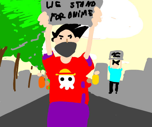 anime protest
