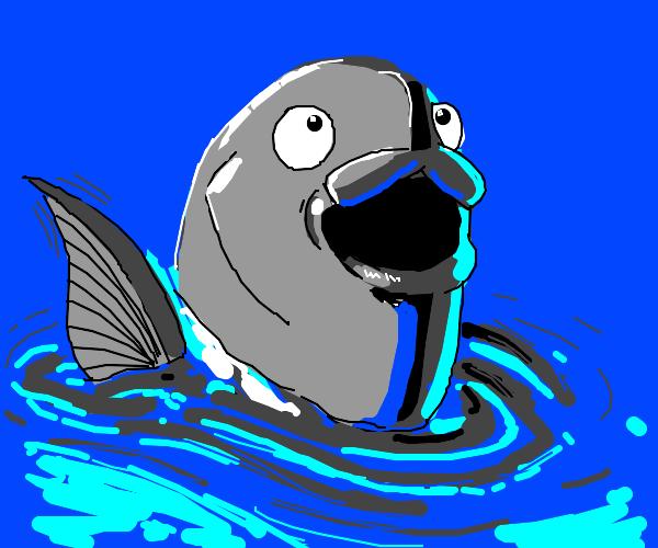 Friendly fish says hello