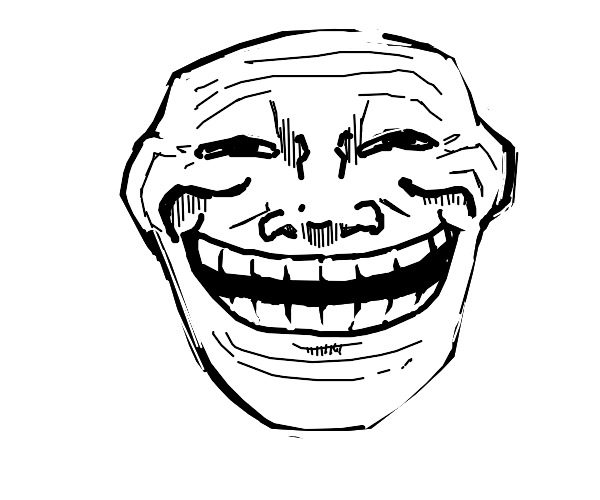 Front facing trollface