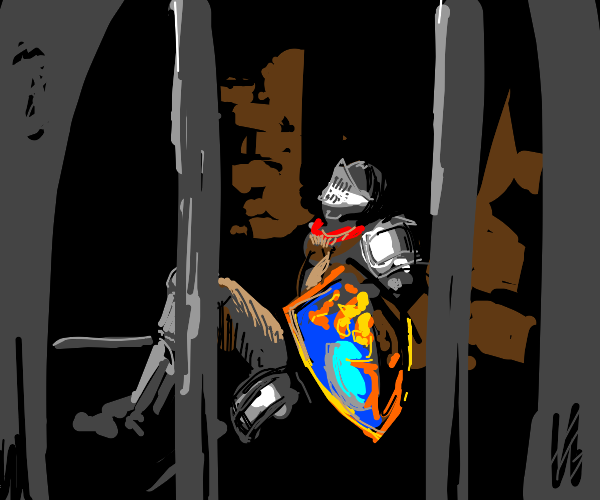 knight in prison