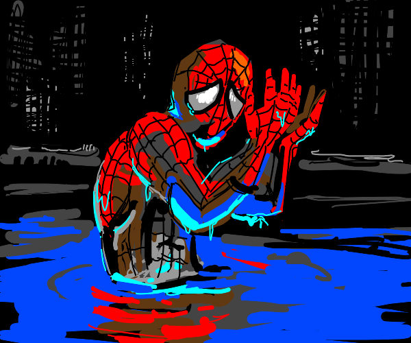 Wet Spiderman