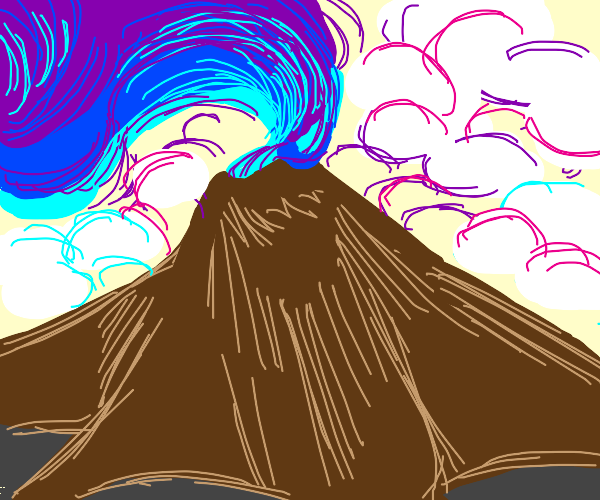 Volcano charging up wind magic