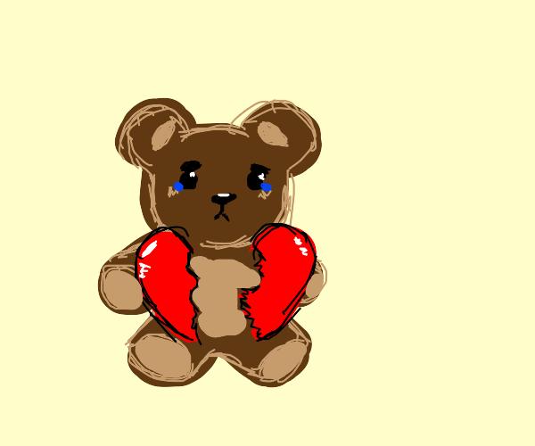 heartbroken teddy bear