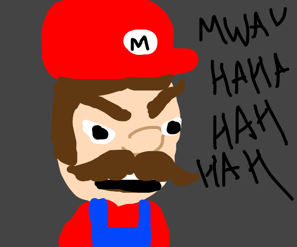 Mario does evil laugh
