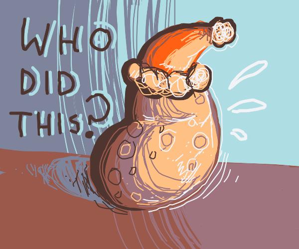 Who turned Santa into a potato?!