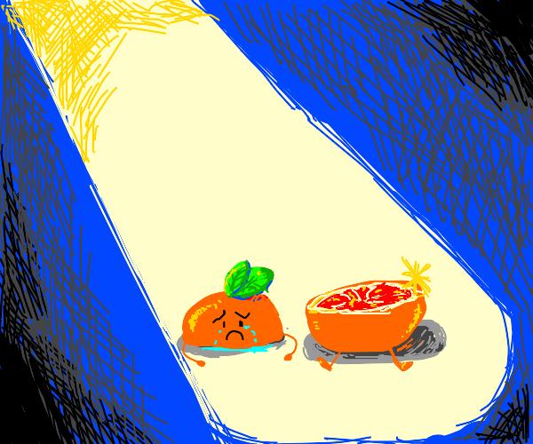 Sad little grapfruit