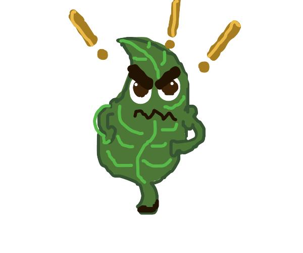 VERY angry leaf