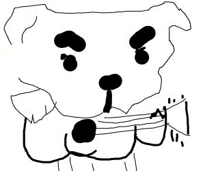 K.K. Slider playing guitar