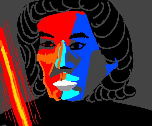 Pablo Picasso recreation of Kylo Ren