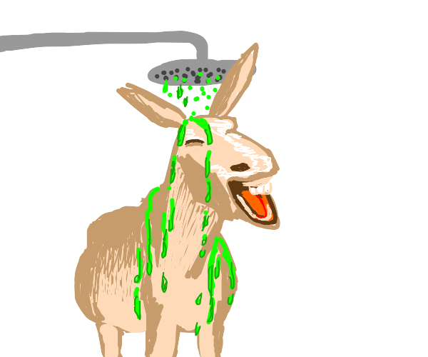 donkey singing in the acid shower