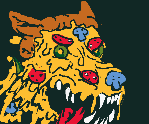 Epic pizza wolf