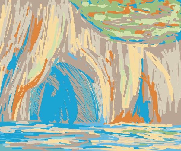 Sea-side cave