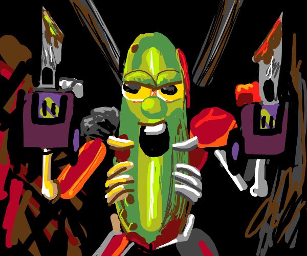 Haha funnneh pickle Rick meme exdee