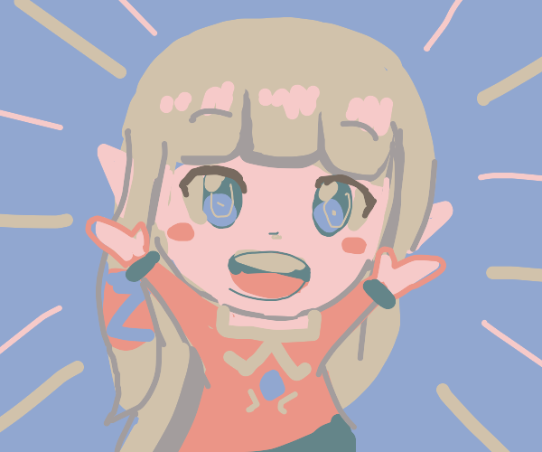 A cute blond elf girl wants a hug