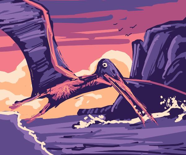 Pterosaur over the sea