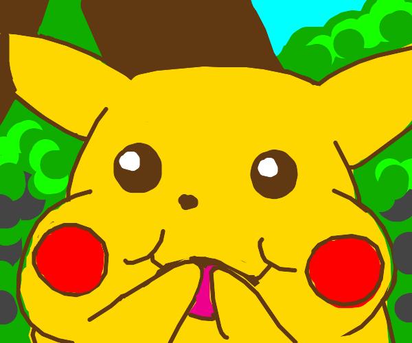Surprised Pikachu is happy!