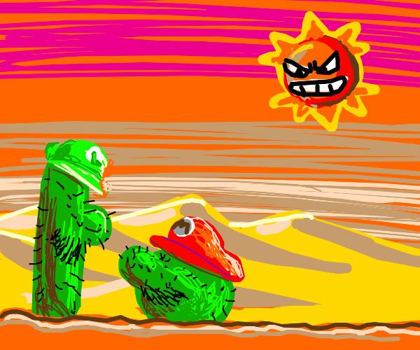 Cactus Luigi, funniest meme I ever saw.