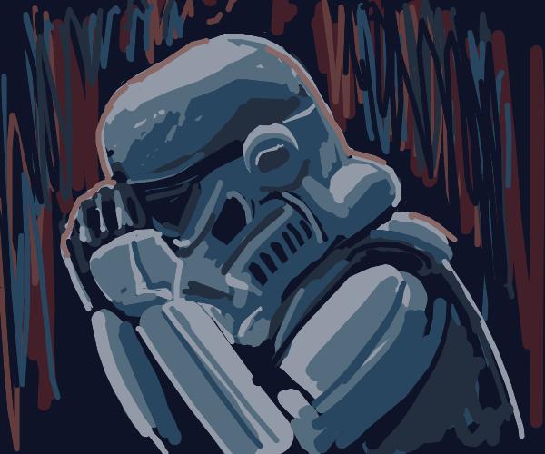 Depressed Stormtrooper