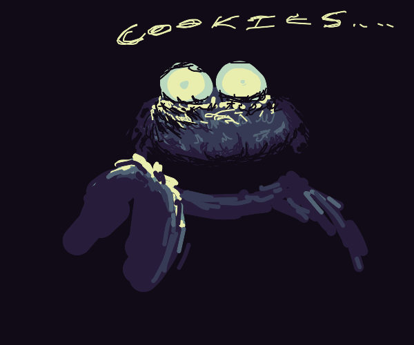 cookie monster eats souls of the dammed