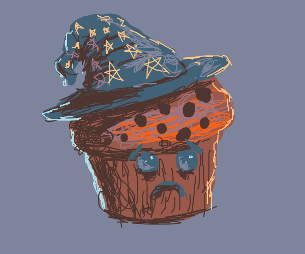 Muffin Witch doesn't look too happy :(