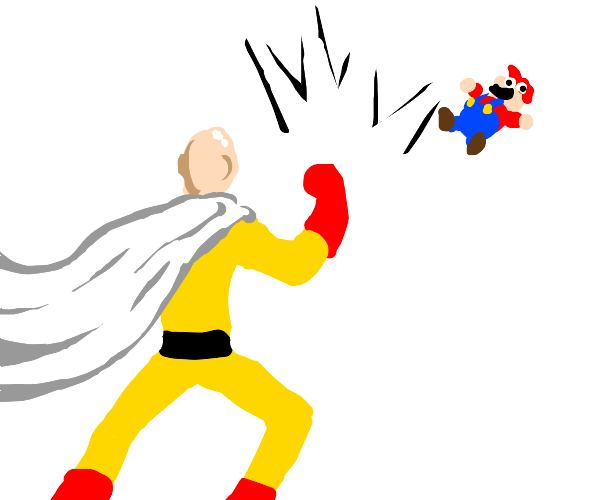 mario and one punch man