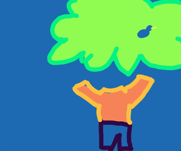 Invisible guy climbs invisible tree