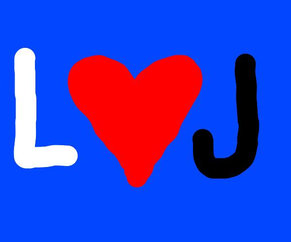L loves J