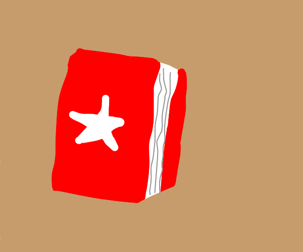 red book with a white star
