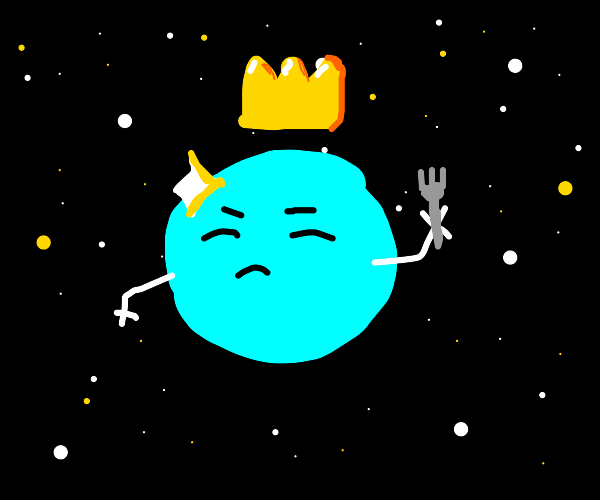 Beautiful King Planet with Fork