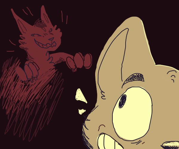 Spooky Furry Chasing another Furry