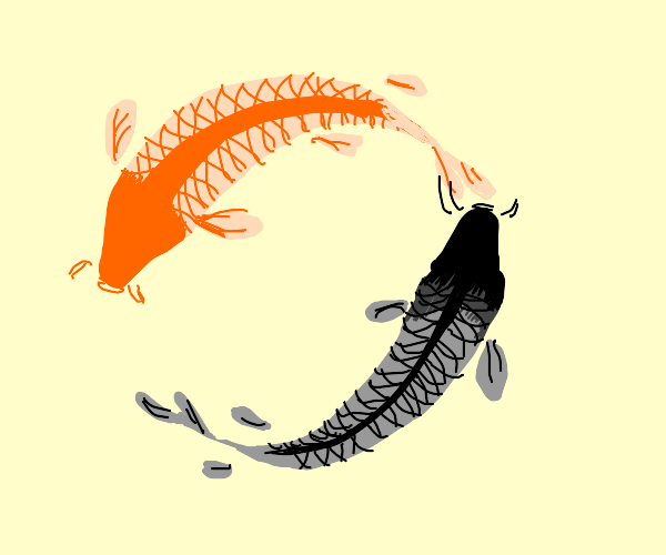 Two Koi Fish in a Circle