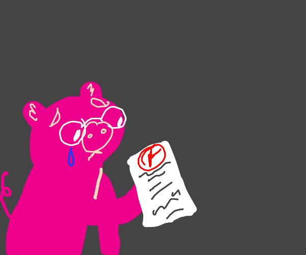 Pig gets an F