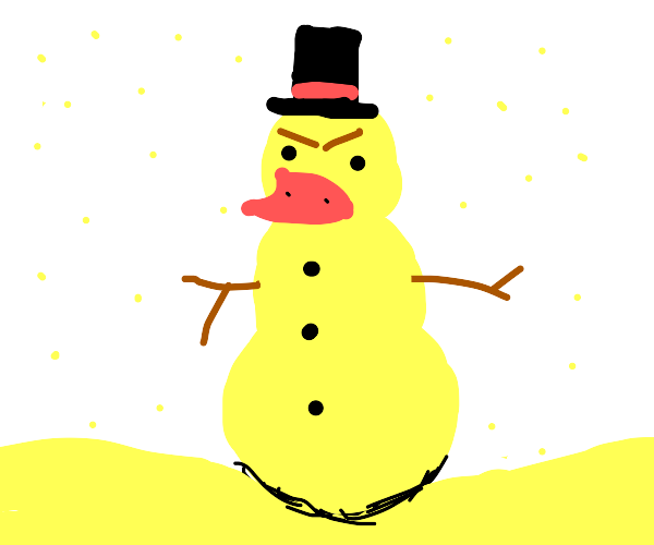 angry duck snowman