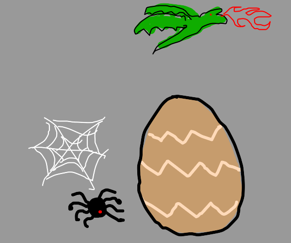 spider with a dragon egg