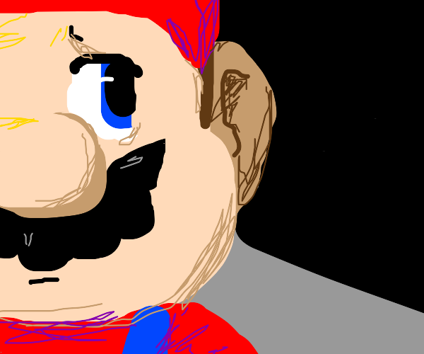 Mario has gazed into the darkness.