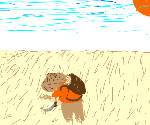 Gatherer of wheat