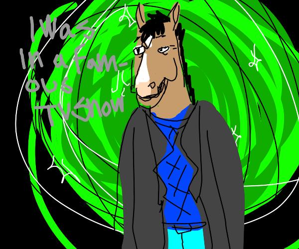 Bojack Horseman in Rick Sanchez's portal